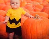 Charlie Brown Shirt Charlie Brown Costume Chuck Baby Tshirt Yellow Black Chuck Toddler Charlie Brown Kids Charlie Brown Shirt Halloween