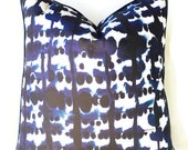 Blue Indigo Parallel Pillow