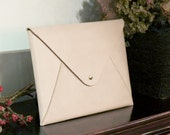 Personalized Leather MacBook 11 inch Air Case / Sleeve / Envelope Clutch, Hand Stitched by HarLex