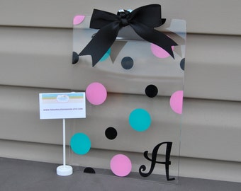 Personalized Clipboard, Acrylic Clipboard, Monogram Clipboard, Custom Clipboard, Clear Clipboard, Clipboard, Teacher Clipboard, Acrylic