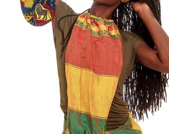 ETHIOPIA loop scarf / MYSTIC LION bangle clutch