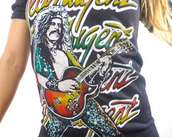 Vintage Ted Nugent Tee 70s Band Tee Concert shirt 70s Tee 70s shirt Rolling stones Boho Tee Rocker Tee Metal Tee Punk tee 1970s Rare