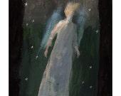 Night Angel painting original illustration people figurative