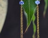 Tanzanite & Gold Dangle Earrings