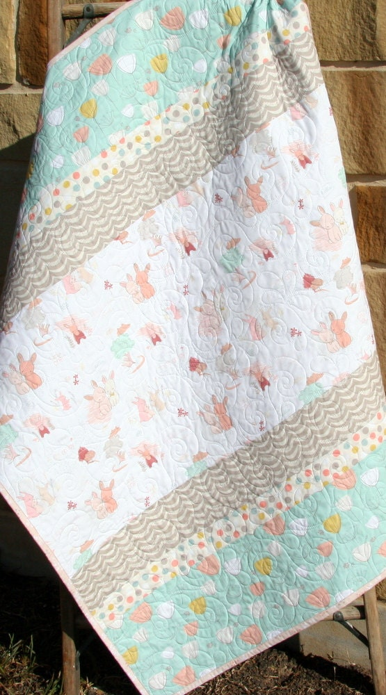 Baby Quilt Girl Bedding Littlest Toddler Blanket Baby