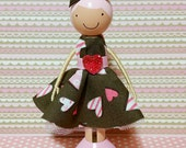 SweetHeart Cameron Miniature Wooden Clothespin Doll