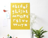SNUG.ABC  poster / warm yellow