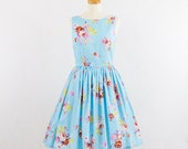 Sale - Vintage Inspired Blue dress - Sale