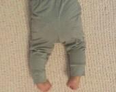 Grey Baby Leggings, Gender Neutral Baby Pants 0-3 M to 2T, Footless Baby Tights