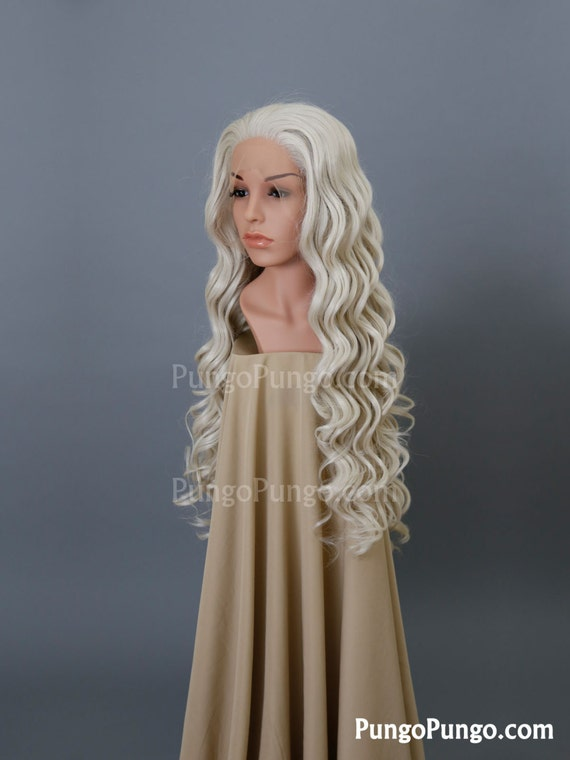 White Blonde Cosplay Wig 119