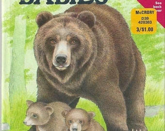 Wild Babies Vintage Children's Book, C1988