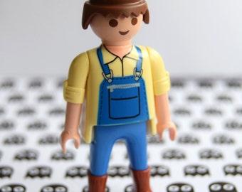 Playmobil Doll Geek Pin Brooch Badge pingame dungarees