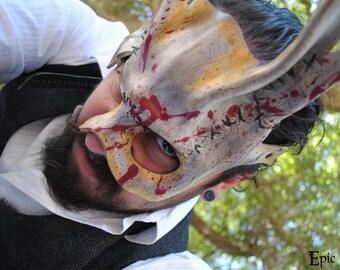 Massacre Spliced Bunny Leather Mask