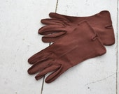 1950s Chocolate Brown Gloves
