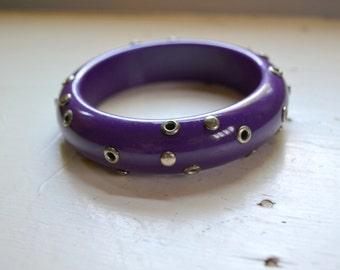 1980s Purple Studded Bangle