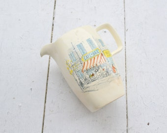 """1950s Midwinter """"Riviera"""" Pitcher with Illustrations by Hugh Casson"""