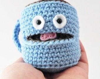 Coffee Mug Amigurumi Pattern, Coffee Crochet Pattern, DIY Play Food
