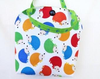 Lunch Tote, Lunch bag, Hedgehog Bag