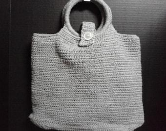 Grey Shopping Bag, Lap Top Carrier, Grey Purse
