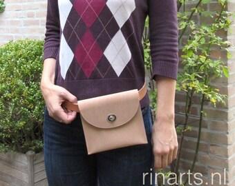 Fanny pack / belt bag / bum bag / waist bag / hip bag / cross body bag in natural calf skin