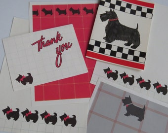 80's Scottie Dog Stationery Collection ~ Scottish Terrier