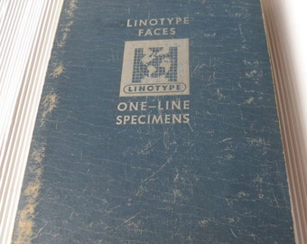 Mergenthaler Linotype Company! 1950 Linotype Faces One-Line Specimens Book! Book Is Considered A Digest Of Linotype Faces Rare Book On Sale!