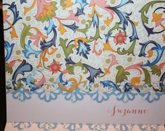 Italian print Note Cards - Personalization may be added to a set of 10