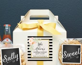 Set of 6-Out of Town Guest Box / Wedding Welcome Box / Wedding Welcome Bag / Out of Town Guest Bag / Wedding Favor / Niki  Label