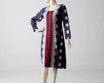 1970s tunic, vintage boho hippie caftan dress
