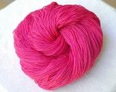 Superwash Merino Sock Yarn, Fuchsia, Pink, Fingering Weight