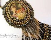 Colonial Picnic Cameo Pendant Necklace SALE