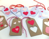Gift tags, Heart gift tags, Gift labels, Hang Tags, Eco-friendly gift tags, Gift wrapping supplies, Pink, Lilac
