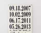 Important Date Sign, Custom Date Sign, Anniversary Date, 5th Anniversary Gift, Wedding Date Sign, Wood Wall Art, Wood Sign