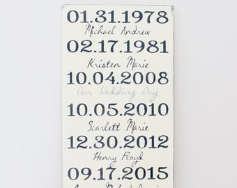 Important Date Wood Sign - 5th Anniversary Gift - Wood Anniversary - Personalized Wedding Gift - Engagement Gift - Custom Sign