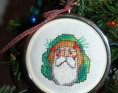 Santa #5 Cross Stitch Ornament