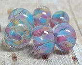 lampwork beads... SRA handmade, encased classic frits (chintz) set for making jewelry MaDE tO oRDer 100515-13