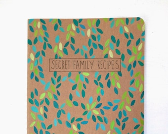 Thank you gift, Daughter in law gift, Moleskine blank cookbook, Family recipe book, Blank recipe book, Chef gift, Bridal shower gift, Foodie