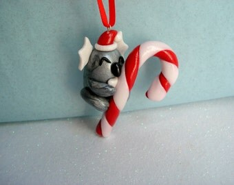 Koala Christmas Ornament Polymer Clay Ornament Christmas Decoration Koala Bear Ornaments Tree Ornament Candy Cane Cute Ornament