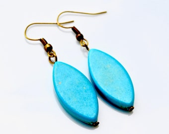 Turquoise Petals . Earrings