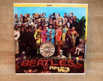 The Beatles - Sgt. Peppers Lonely Hearts Club Band - 1969 Vintage Vinyl Gatefold Record Album...w/Cut-outs