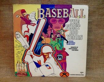 BASEBALL the First 100 YEARS - Official Centennial Record Album - 1969 Vintage Vinyl Record Album