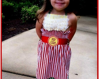 Girls Bag of Popcorn Dress Halloween Costume (Newborn - 5T)