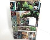 Hulk Recycled Comic Book gift bag / repurposed comic / upcycled gift bag