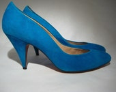 Evan Picone Blue Suede Shoes - Size 7M