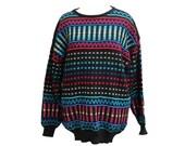 Vintage 80's Metallic Rainbow Sweater Women's Size Large