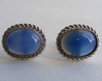 Vintage Blue Onyx Cuff Links