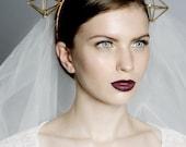 Geometrische Kopfband Geometrie inspiriert Stirnband, Mode-Krone, kommt in verschiedenen Farben, gestreift, modernes Design