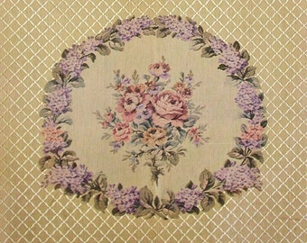 Vintage Tapestry SET From France in Cotton/Silk For Chair or Wall Hangings - Never Used