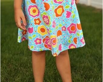 Spunky Girl Skater Skirt PDF Sewing Pattern for Girls