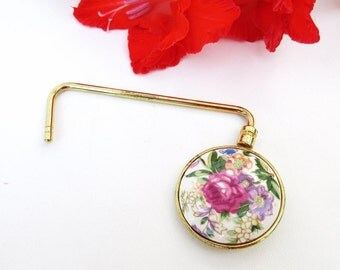 Retro Handbag Caddy, Purse Hook Hanger,  Bag Hook, Table Holder